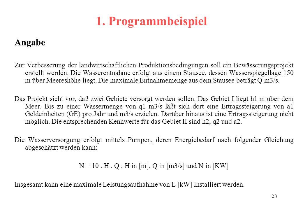 N = 10 . H . Q ; H in [m], Q in [m3/s] und N in [KW]